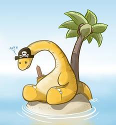 Sad Pirate Dinosaur