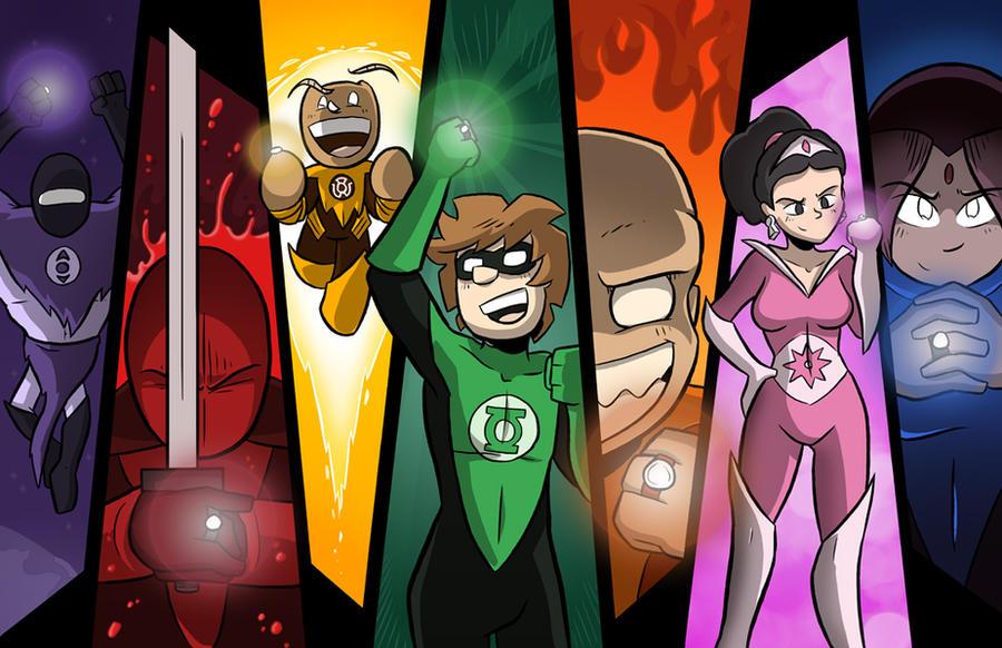 Green Lantern Parody Commission by samandfuzzy