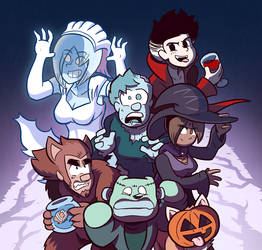 Sam and Fuzzy and Halloween by samandfuzzy