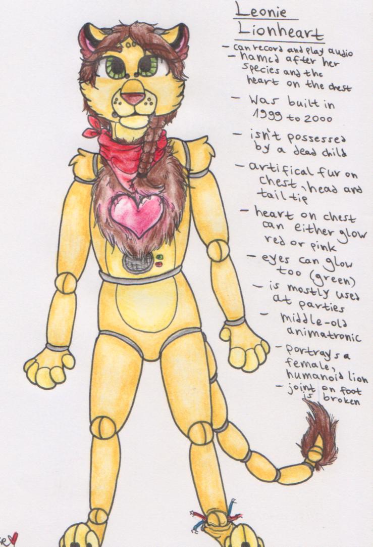 Leonie Lionheart | FNAF - OC by Spinnenpfote6