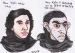Kylo Ren | Reality vs Fan Art by Spinnenpfote6