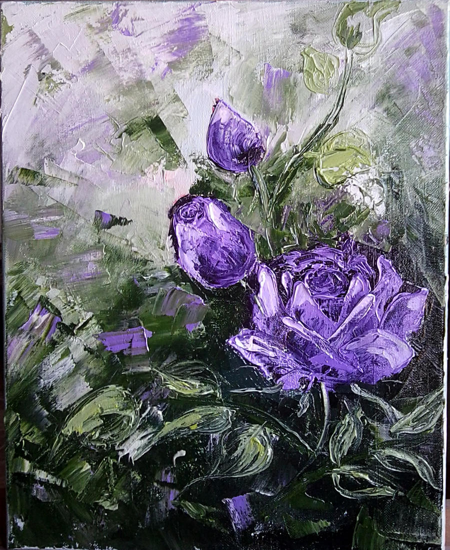 purple roses by misterull