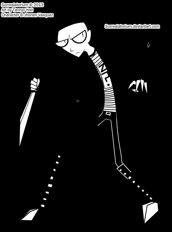 how to draw johnny the homicidal maniac