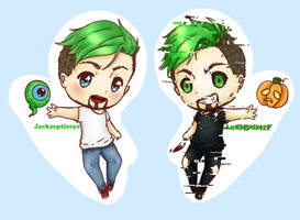 Jacksepticeye and Antisepticeye by MonsterMena