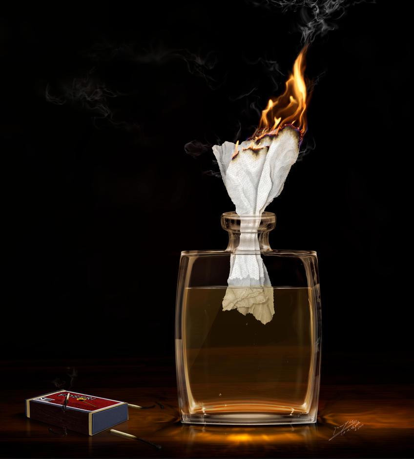 Bottled Fire by LSMBird
