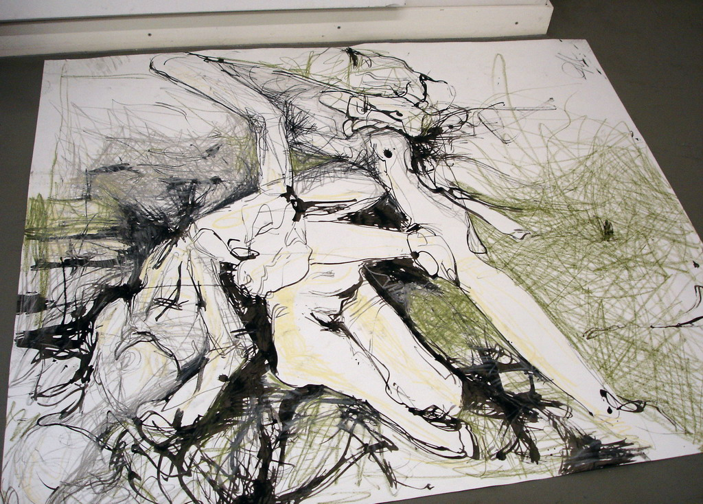 Abstract Drawing by 1Le0na1