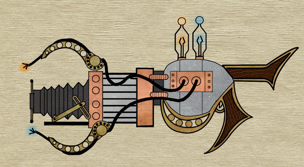 Portal Gun Drawing Steampun Portal Gun Design