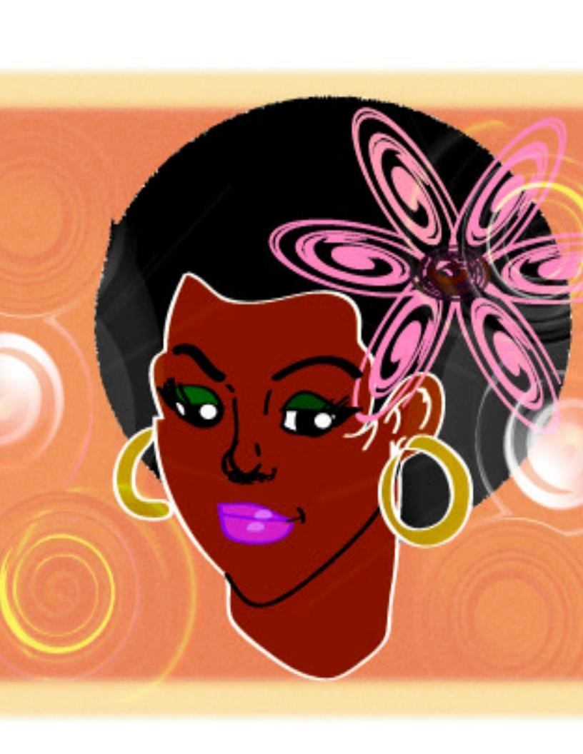 Displaying 20&gt Images For  Afro Girl Drawing
