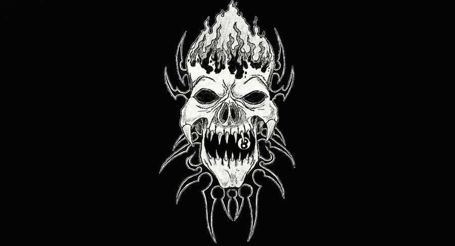 Tribal Skull Black Background by DaBlackDevil on DeviantArt