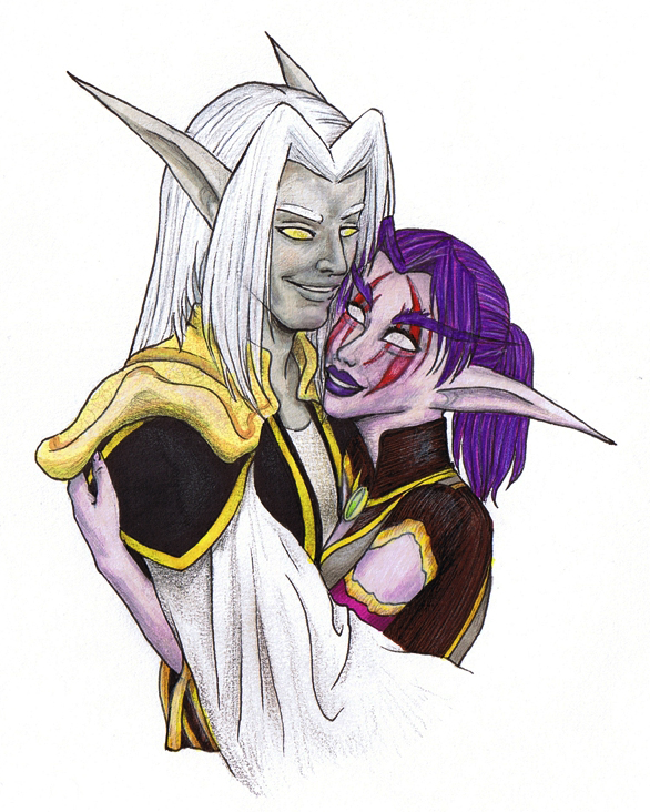 Warcraft  Baelmah and Isaura by youkobutt
