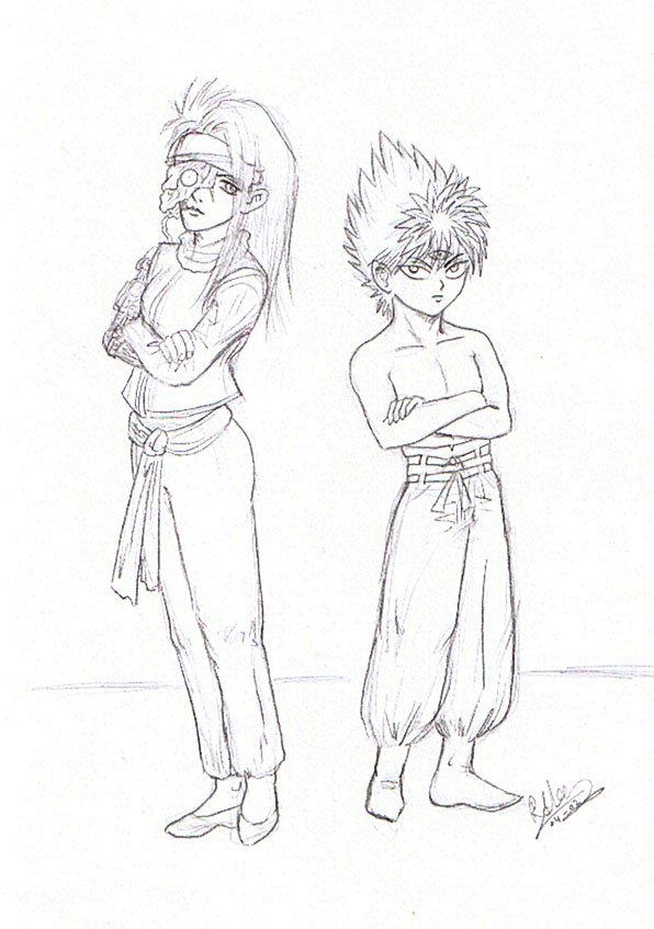 YYH: Mukuro and Hiei by youkobutt
