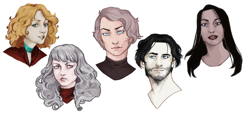 //heads of deads and freya\\ by Nieobca