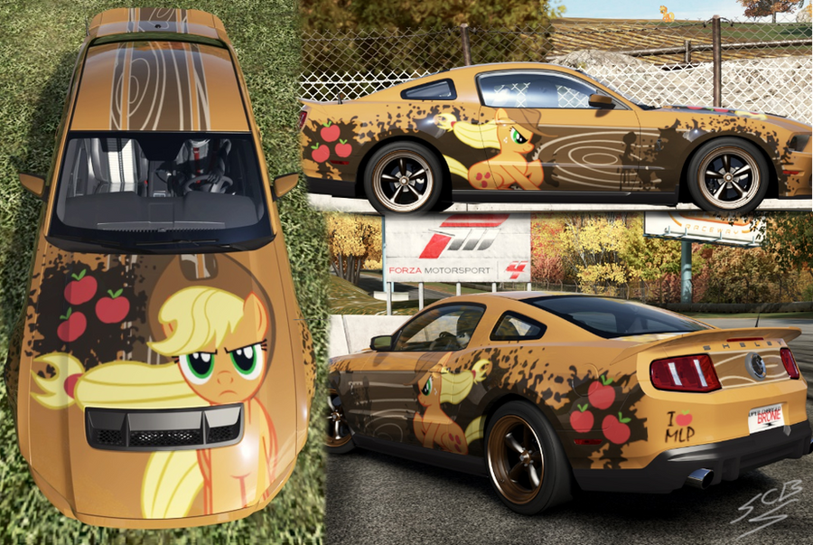 Shelby GT500 2010 of AppleJack by SuperChargedBronie