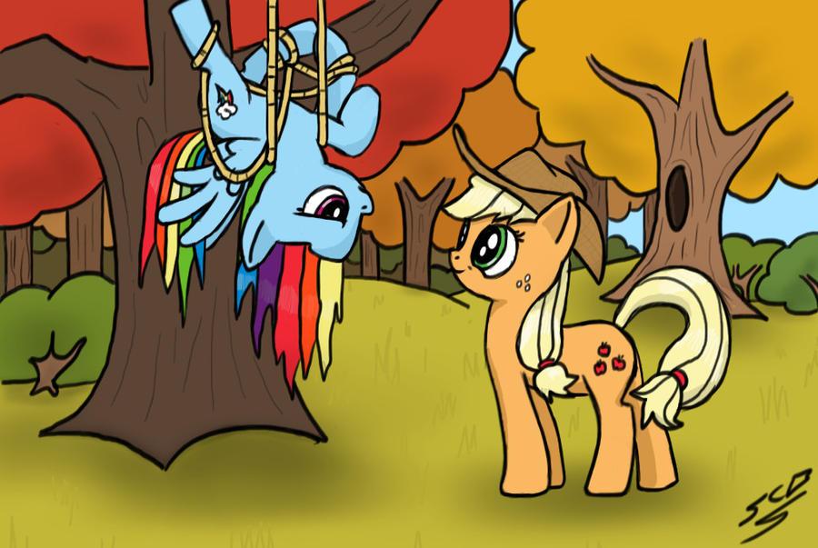Anthro applejack and rainbow dash - photo#18