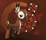 MaplePuff with abstract background