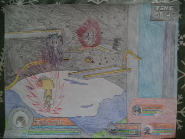 Sonic Battle Scene #5 by Kenji195
