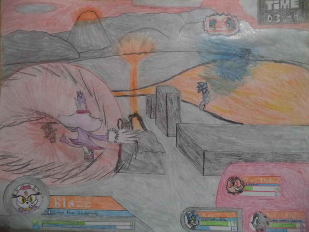 Sonic Battle Scene #6 by Kenji195