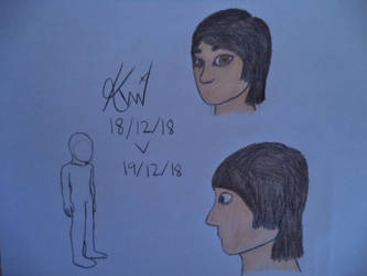 Attempt at drawing myself by Kenji195