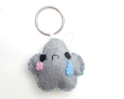 Sad Cloud Keychain by CosmiCosmos
