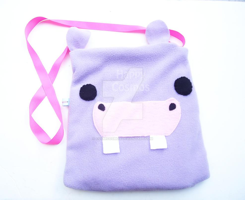 Purple Hippo Bag by CosmiCosmos