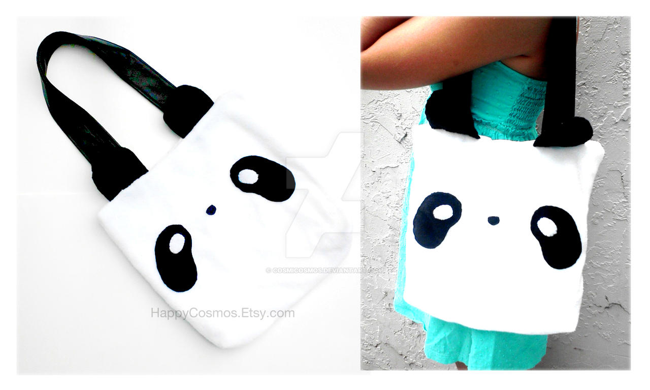 Cute Panda Tote by CosmiCosmos