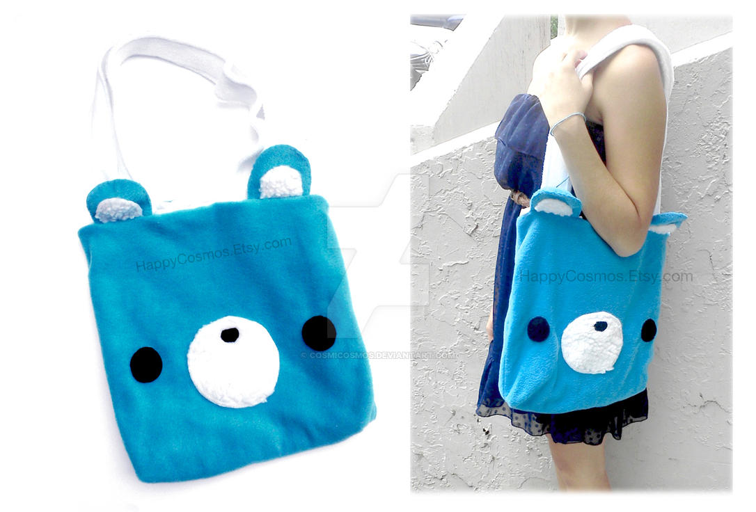 Blue Bear Tote by CosmiCosmos
