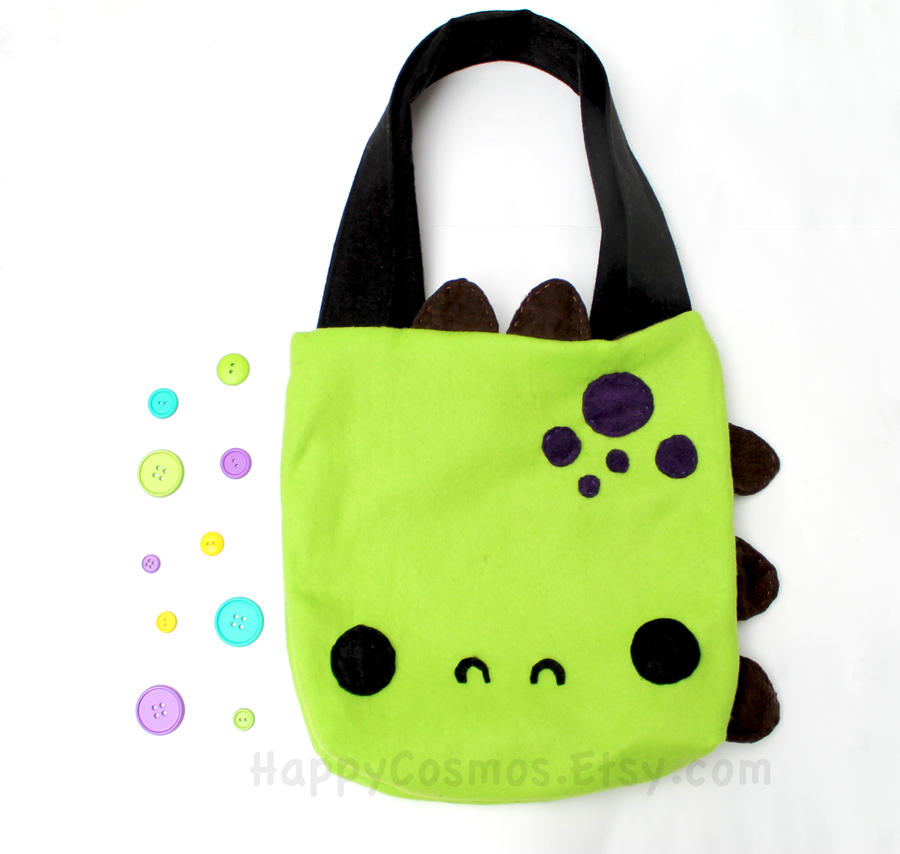 Dinosaur Tote Bag by CosmiCosmos