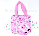 Pink Owl Tote