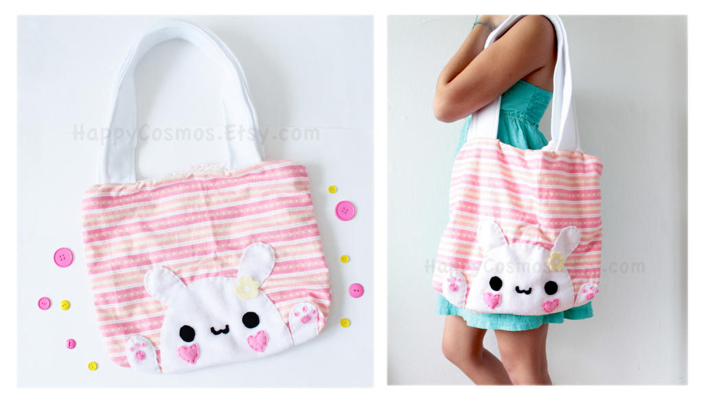 Bunny Tote Bag by CosmiCosmos