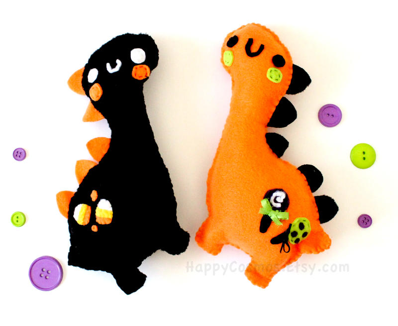 Halloween Dinosaur Plush by CosmiCosmos
