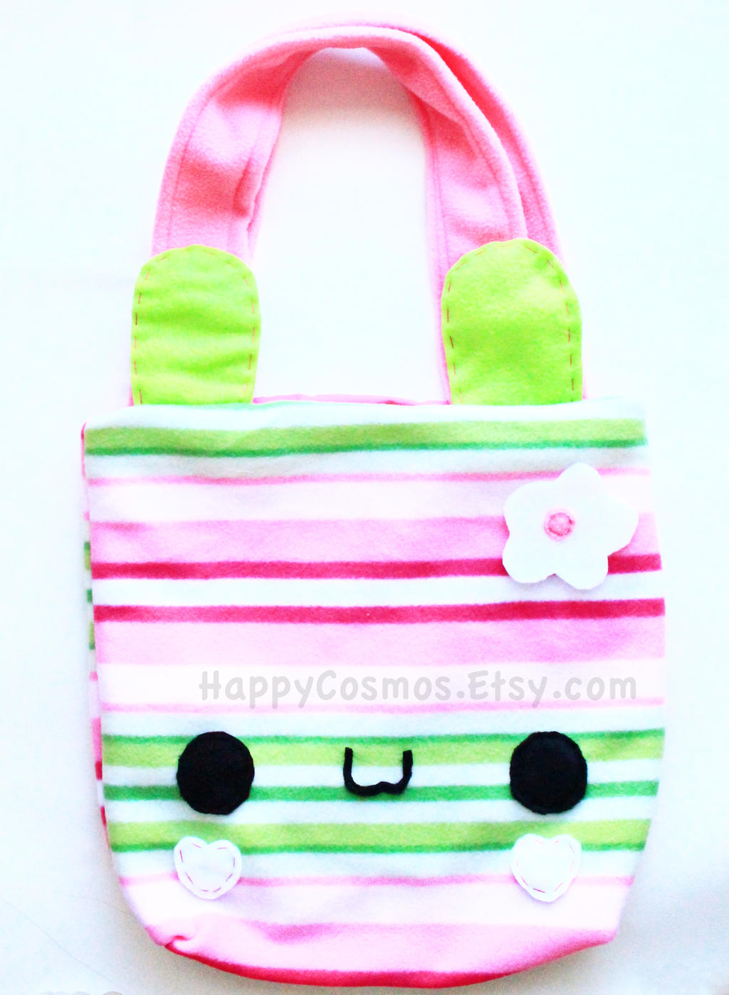 Striped Bunny Bag by CosmiCosmos