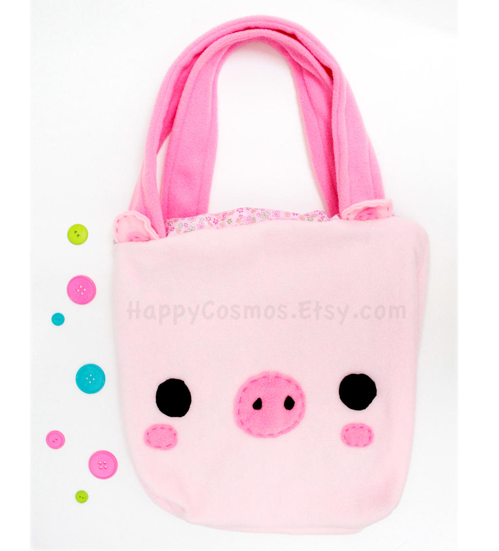 Pig Tote Bag by CosmiCosmos