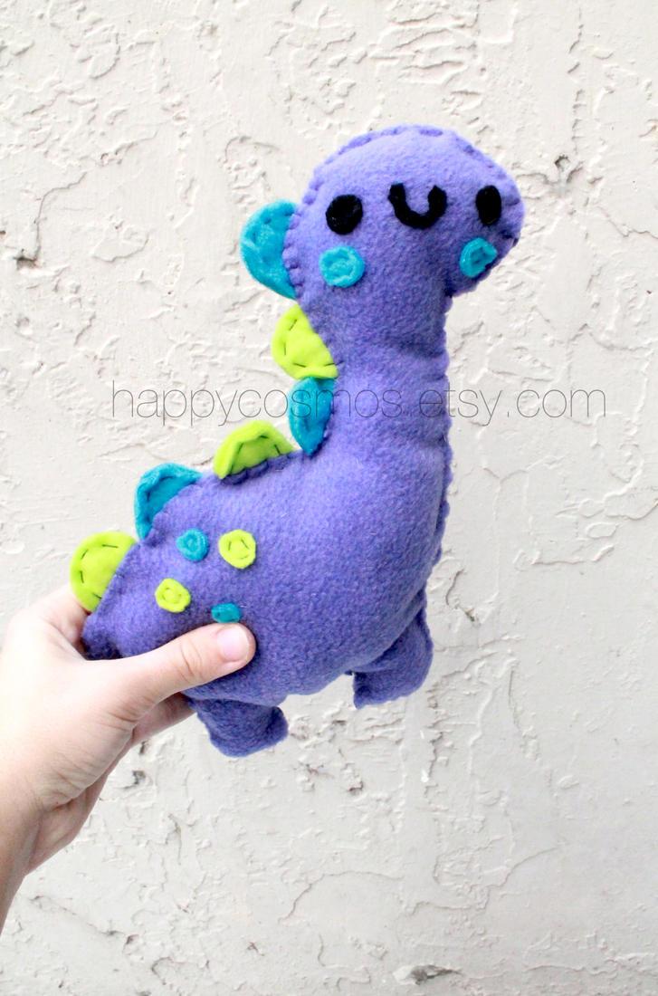 Cute Dino Plushie by CosmiCosmos
