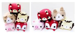 Cute Animal Plushies by CosmiCosmos