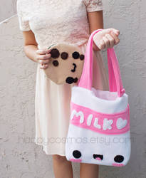 Cookie and Milk Tote by CosmiCosmos