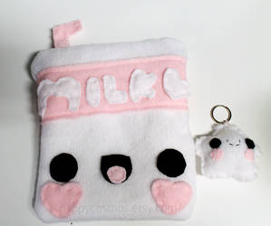 Cute Pouch and Keychain by CosmiCosmos