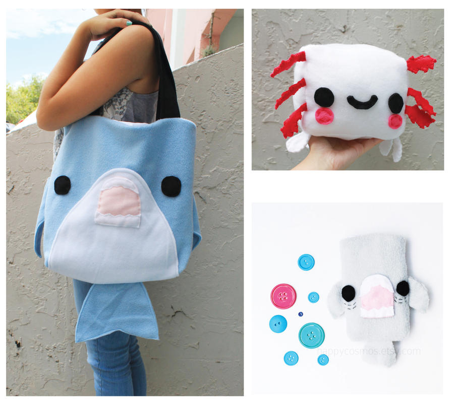 Giveaway Shark Bag Pouch And Plush By Cosmicosmos On