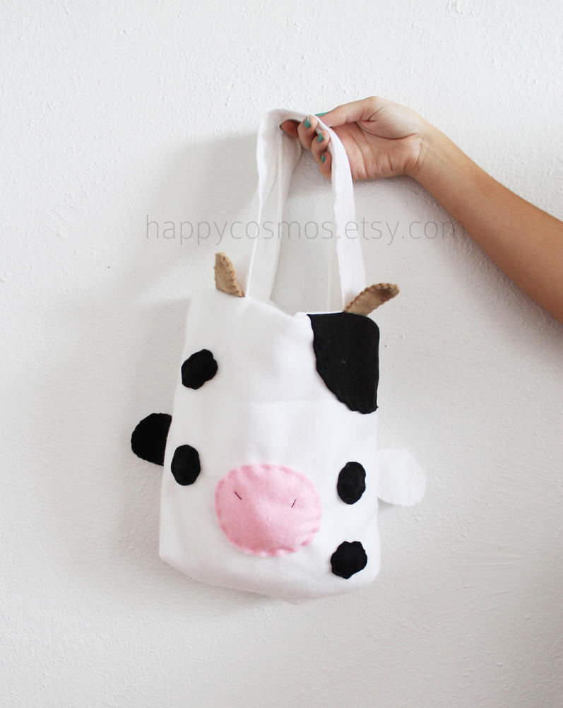 Cow Tote Bag by CosmiCosmos
