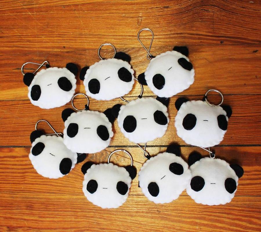 Panda Keychains by CosmiCosmos