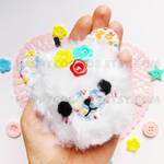 Floral Bear Keychain by CosmiCosmos