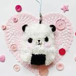Onigiri Bear Keychain by CosmiCosmos