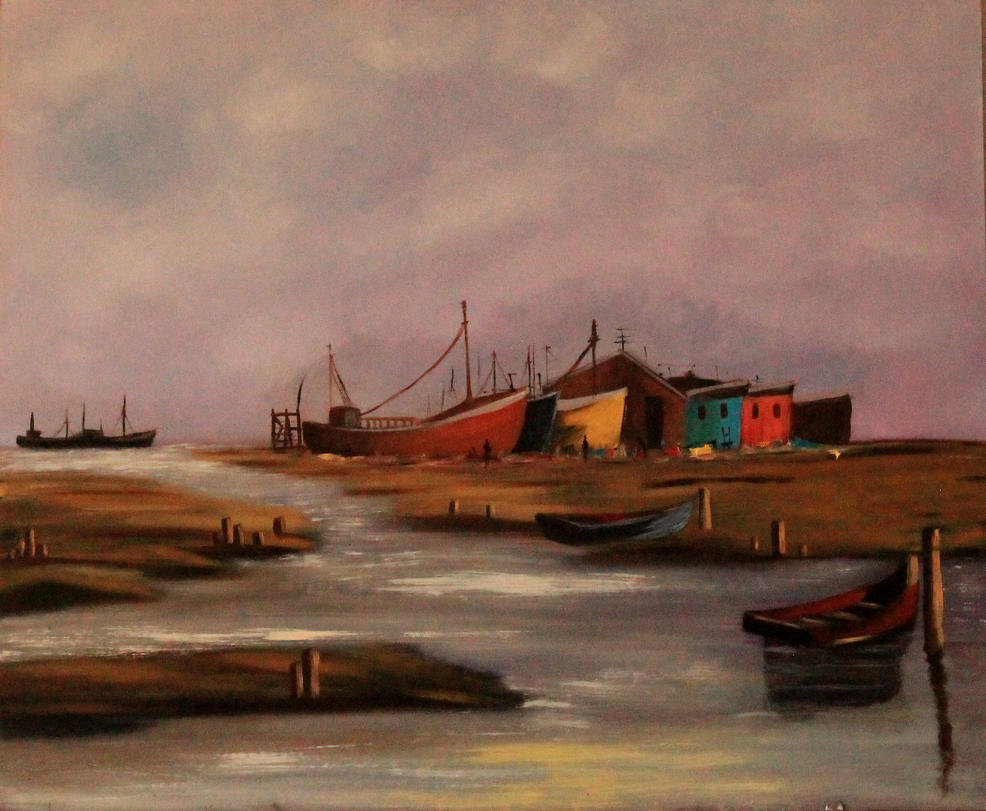 Boats by the River by 6vivi6ana6