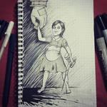 Inktober - Little Sister