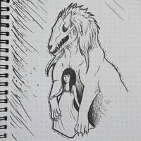 Inktober - Monster Guardian by CPT-Elizaye