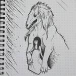 Inktober - Monster Guardian