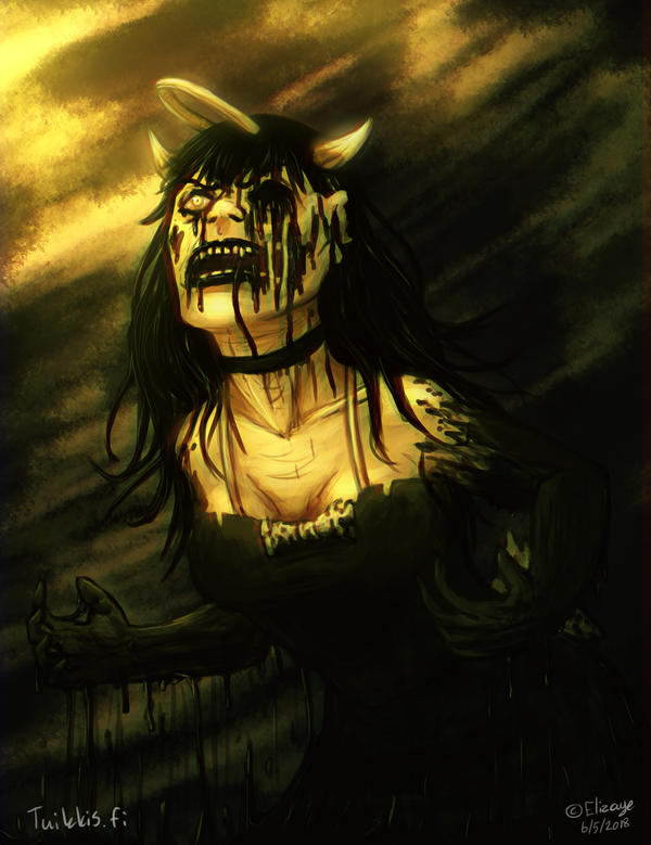 Scream from Ink Puddle by CPT-Elizaye