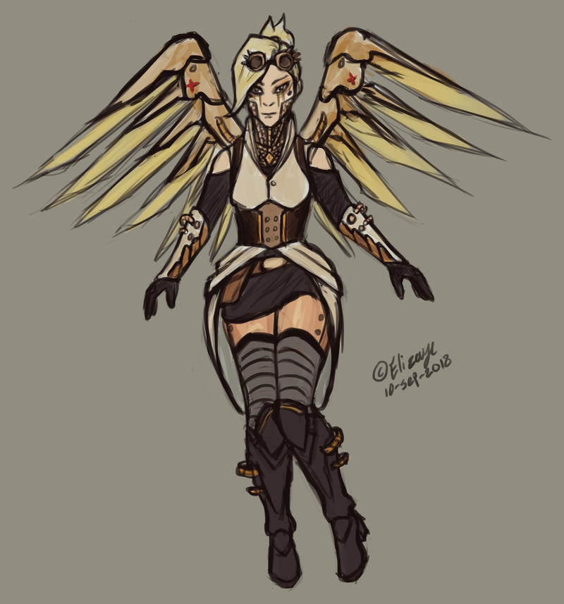 Steampunk Mercy by CPT-Elizaye