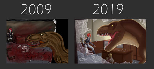 10 Years Challenge - Dino Crisis by CPT-Elizaye