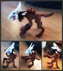 Wendigo Felt Toy by CPT-Elizaye