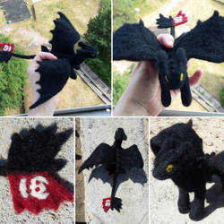 Toothless [Felt toy] by CPT-Elizaye